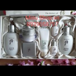 Set Hoa Hồng Sữa Dưỡng Kem Dưỡng Trắng Da Trị Thâm Nám Whoo Seol